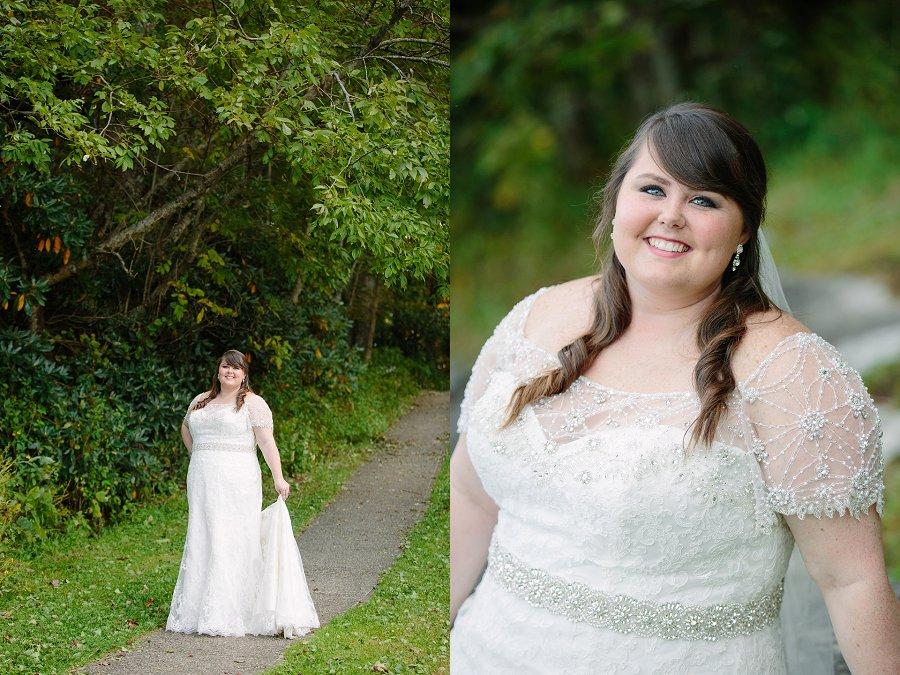Blowing Rock, NC Bridal Portraits